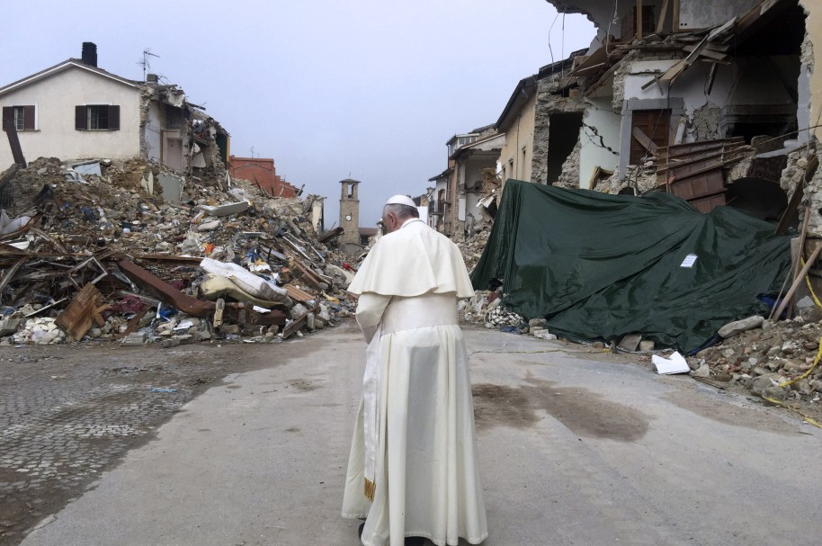 Papa Francisco en Amatrice