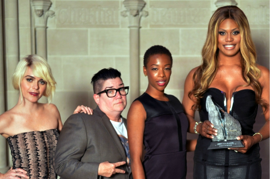 Taryn Manning, Lea DeLaria, Samira Wiley, Laverne Cox y Matt McGorry de 'Orange is the new Black'