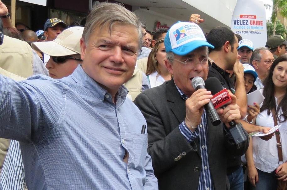 Juan Carlos Vélez Uribe y Álvaro Uribe Vélez