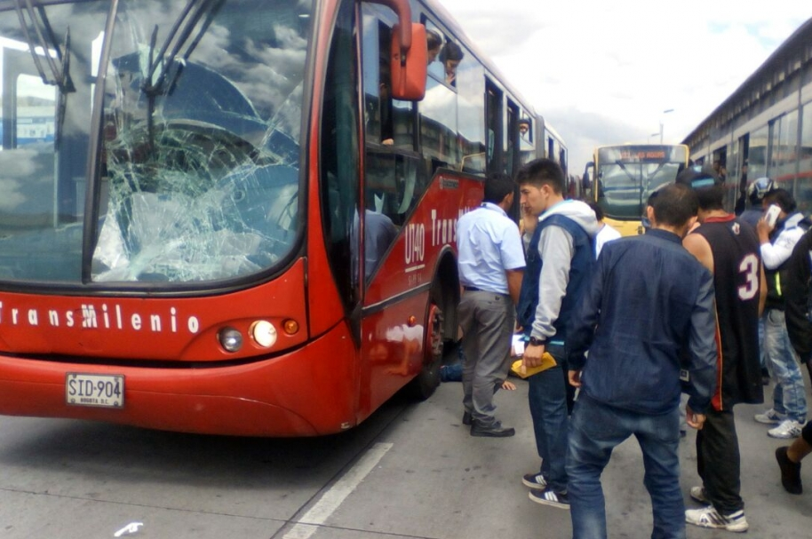 Accidente en la estación Ricaurte.