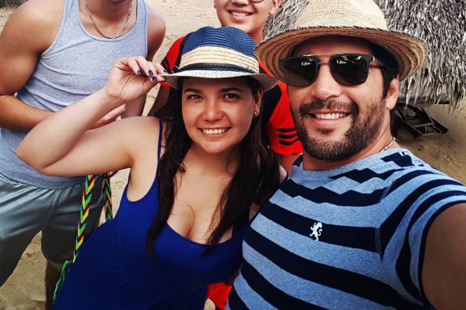 El presentador Agmeth Escaf y su exesposa María Antonia Pardo.