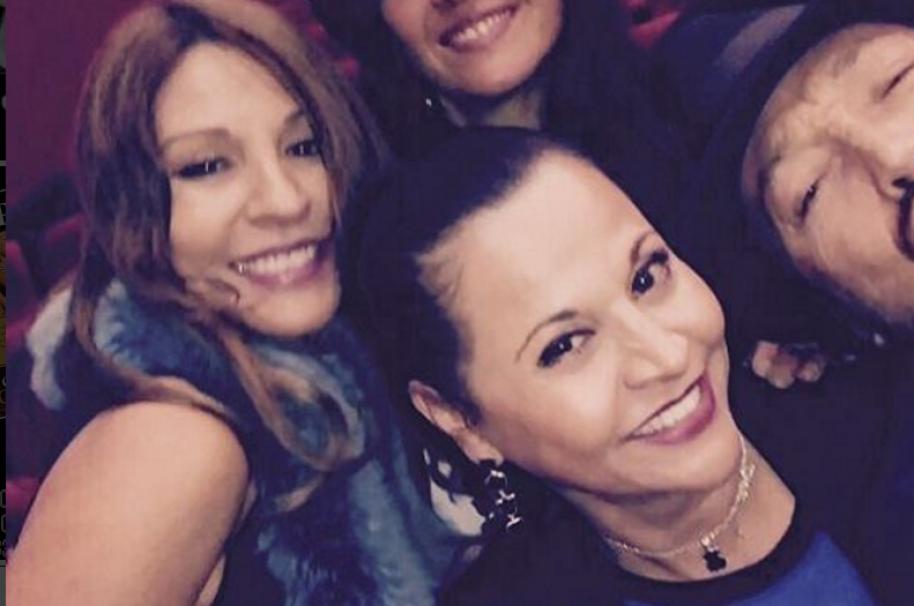 Las actrices y hermanas Amparo y Patricia Grisales.
