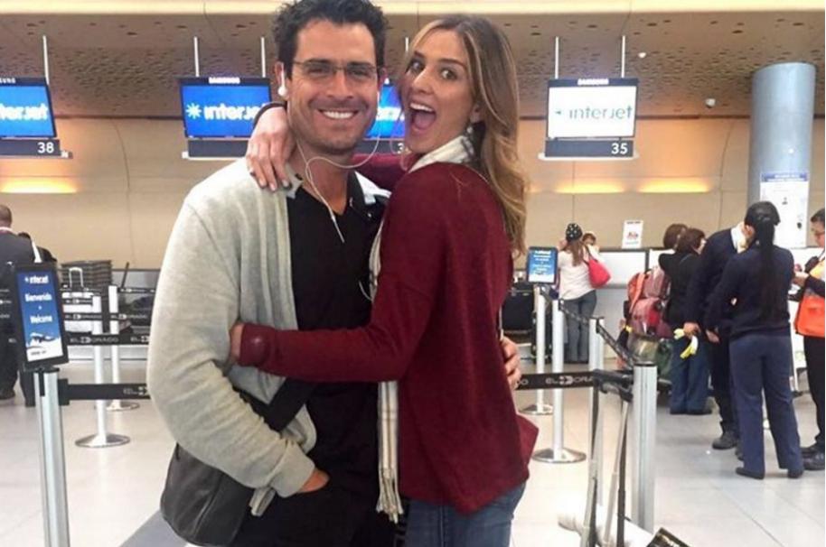 El actor Rafael Novoa y su esposa la ex Señorita Colombia Adriana Tarud.