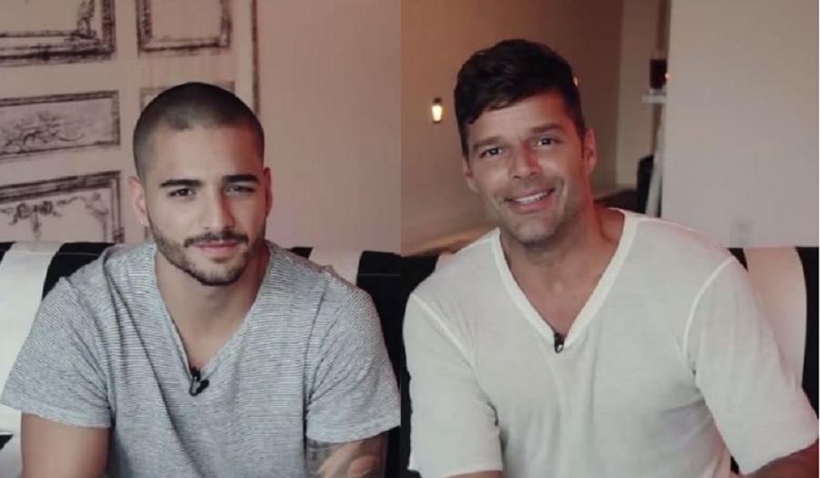 Los cantantes Maluma y Ricky Martin.