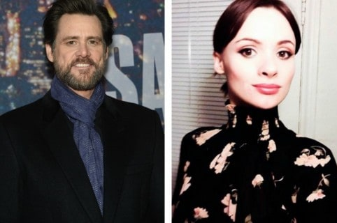 Jim Carrey, actor, y Cathriona White.