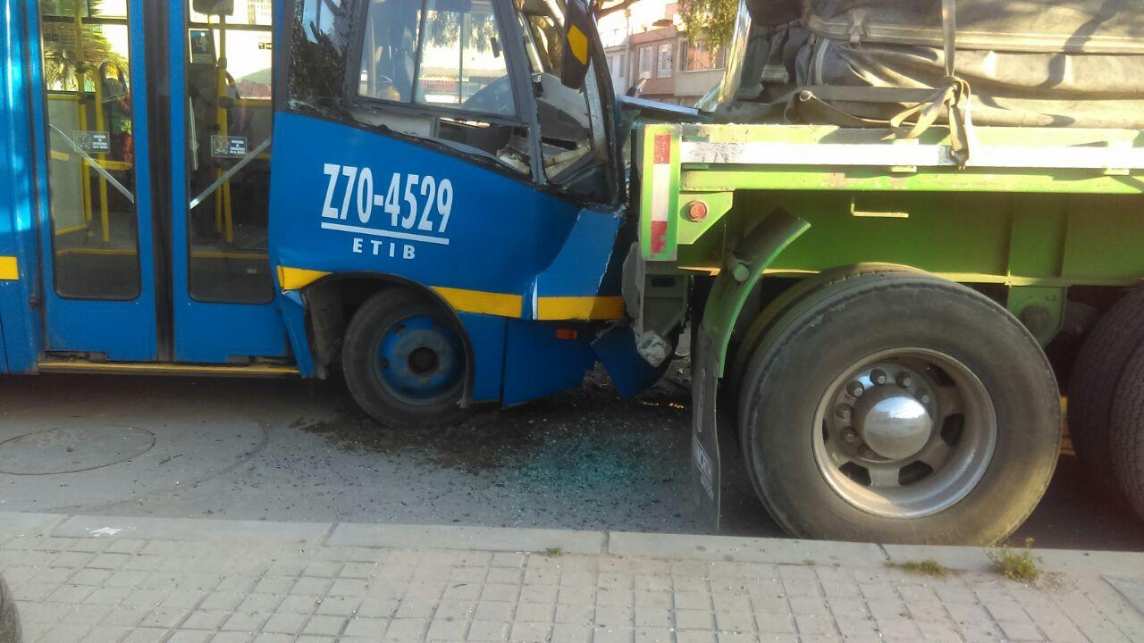 SITP chocado en el sur de Bogotá