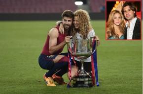 La cantante Shakira con su actual pareja, Gerard Piqué, y con su ex Antonio de la Rúa.