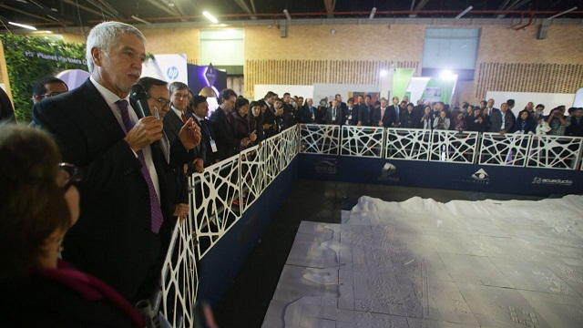 Maqueta en 3D de Bogotá