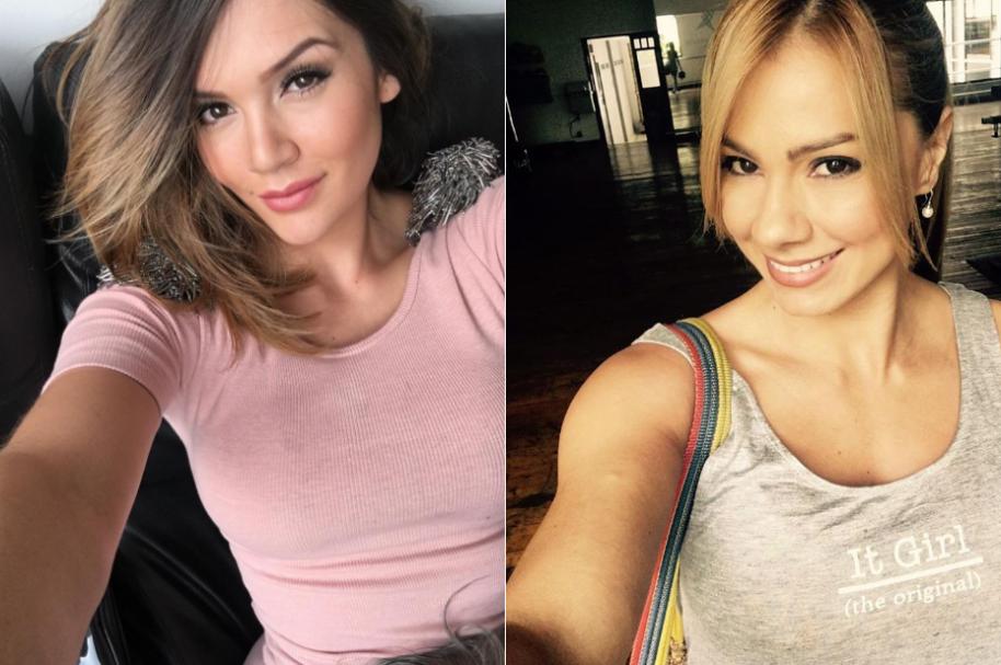 Lina Tejeiro, actriz de 'La ley del corazón', y Esperanza Gómez, actriz porno.