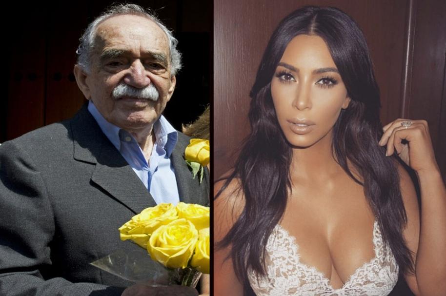 Gabriel García Márquez y Kim Kardashian.