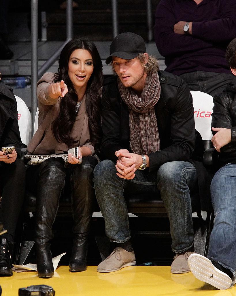 Kim Kardashian y Gabriel Aubry.