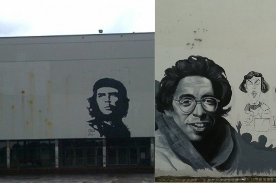 Jaime Garzón (archivo y grafiti Wikipedia)