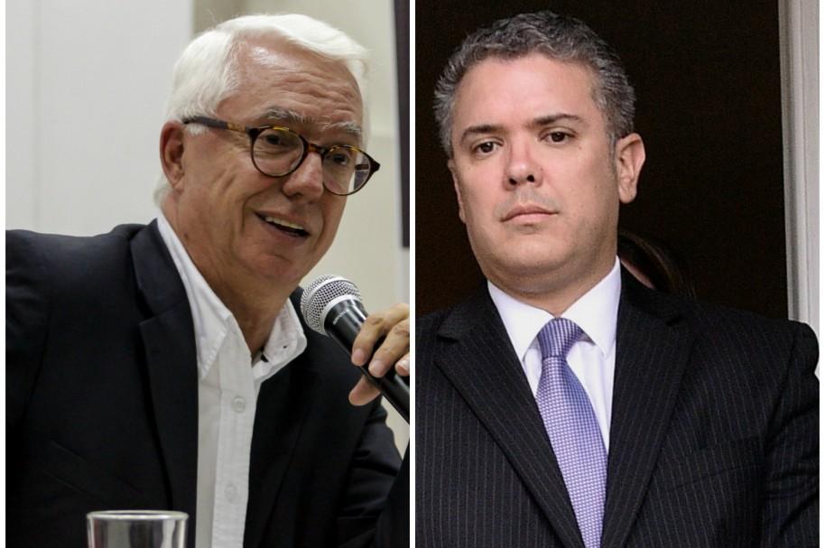 Jorge Robledo e Iván Duque, senadores
