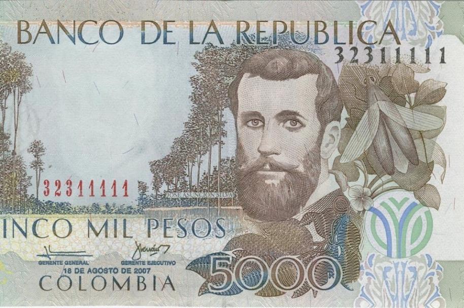Billete de 5.000 pesos viejo