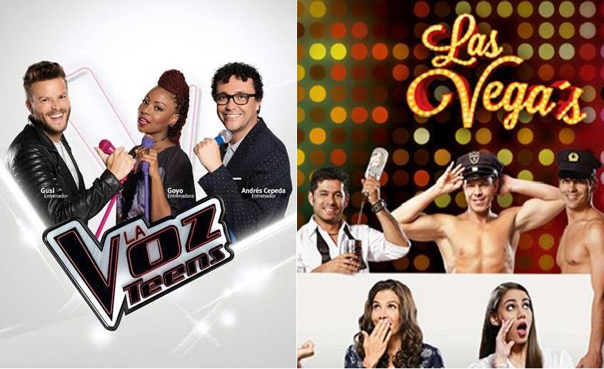 'La voz teens' y 'Las Vega's, nuevas producciones de Caracol y RCN, respectivamente.
