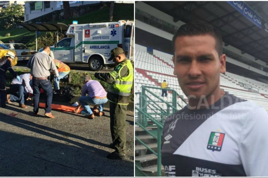 Accidente jugador de Once Caldas