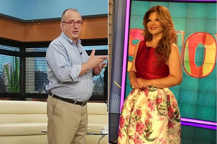 Jota Mario Valencia, presentador de 'Muy buenos días', y Diva Jessurum, presentadora de 'Show Caracol'.