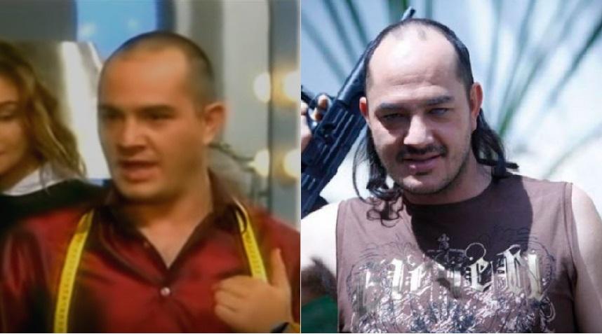 El actor Julián Arango cuando interpretaba a Hugo Lombardi en 'Betty, la fea' y a Guadaña en 'El cartel de los sapos'.
