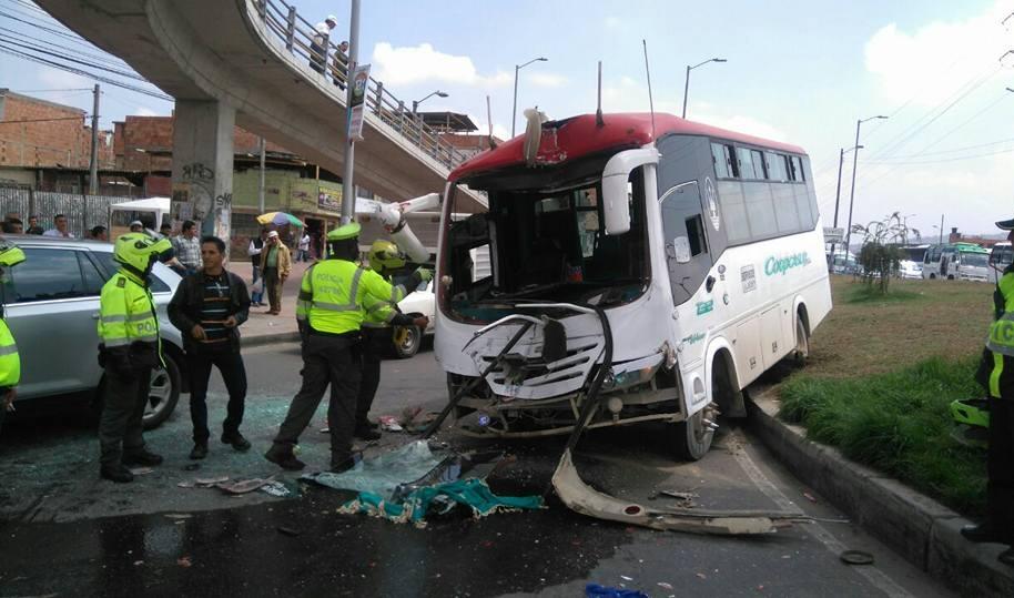 Accidente en Soacha