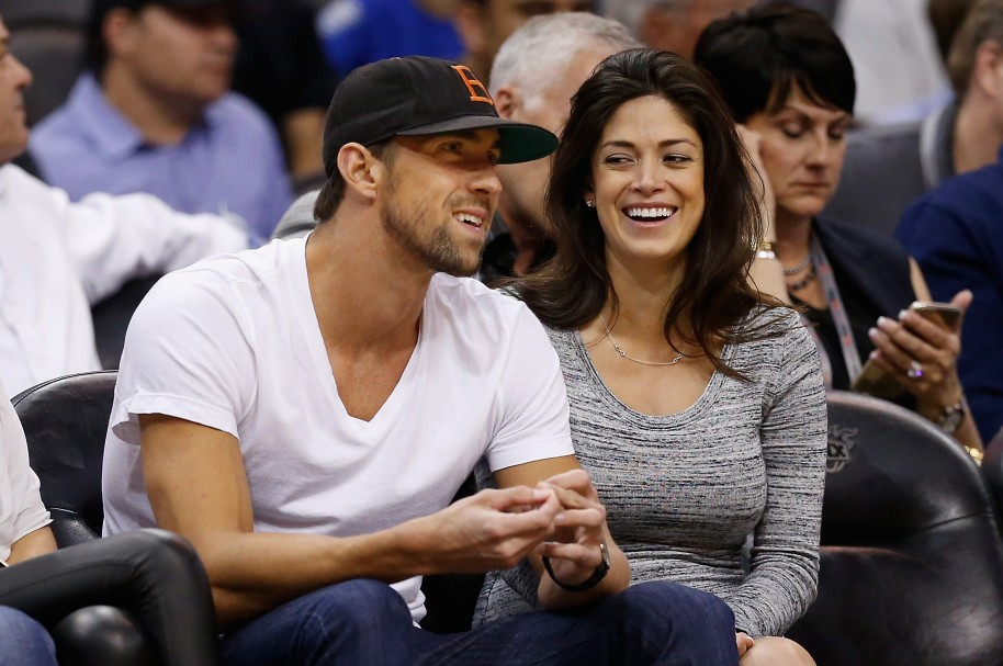 Michael Phelps y Nicole Johnson