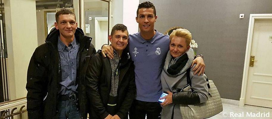 Cristiano Ronaldo y David Pawlaczyc