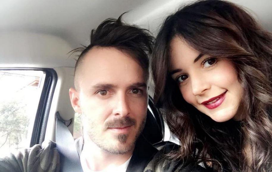 El bicicrosista Tatán Mejía y su esposa Maleja Restrepo.