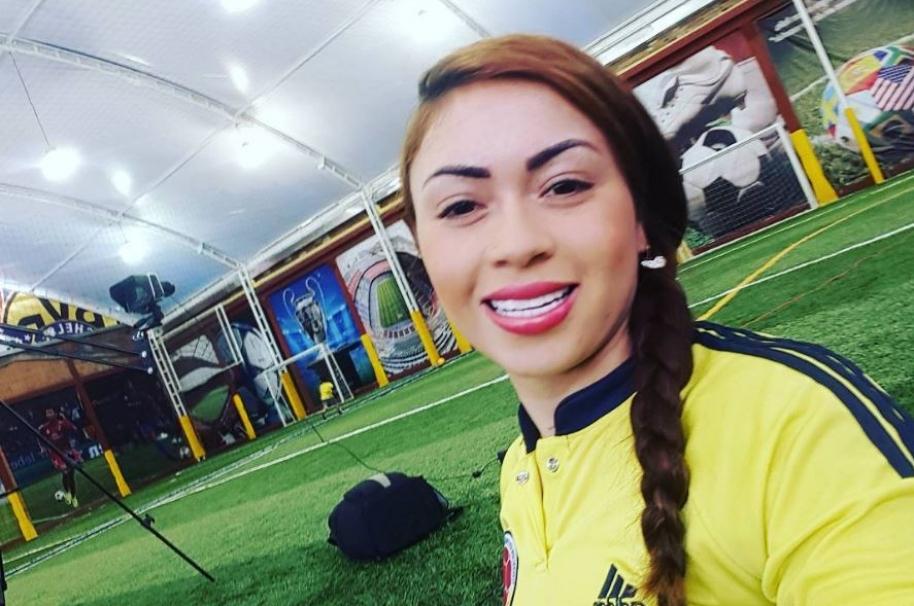 Daneidy Barrera más conocida como 'Epa Colombia' o 'Chamita Cheer'.