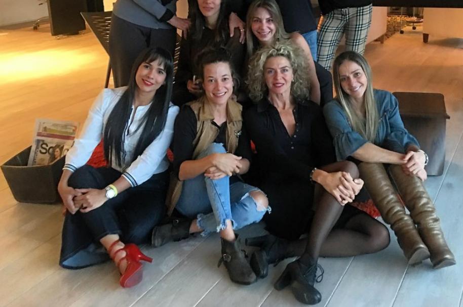 Evelyn Deibe Mulford, Estefania Borge, Margarita Rosa de Francisco, Tata Gnecco y Marcela Barajas.