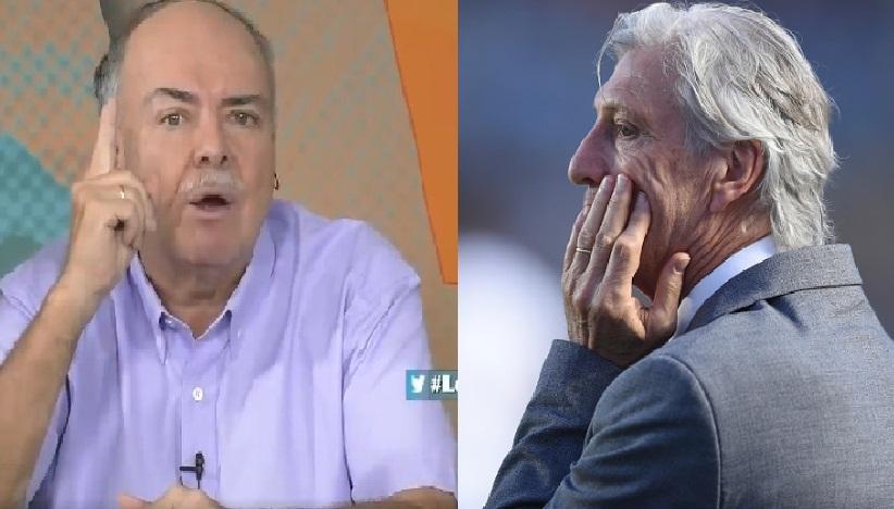Iván Mejía y José Pékerman