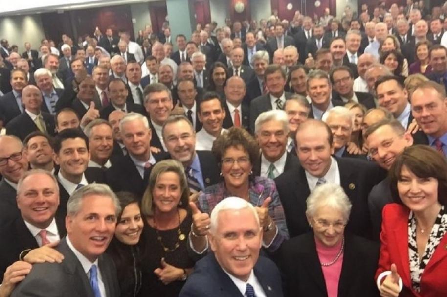 Selfie de Mike Pence