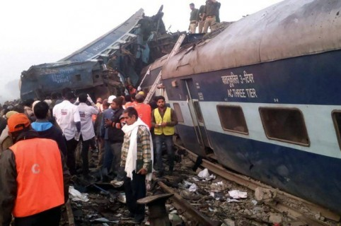 Accidente de tren en la India.