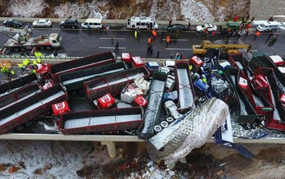 Accidente en China.