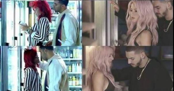 Rihanna y Drake / Shakira y Maluma