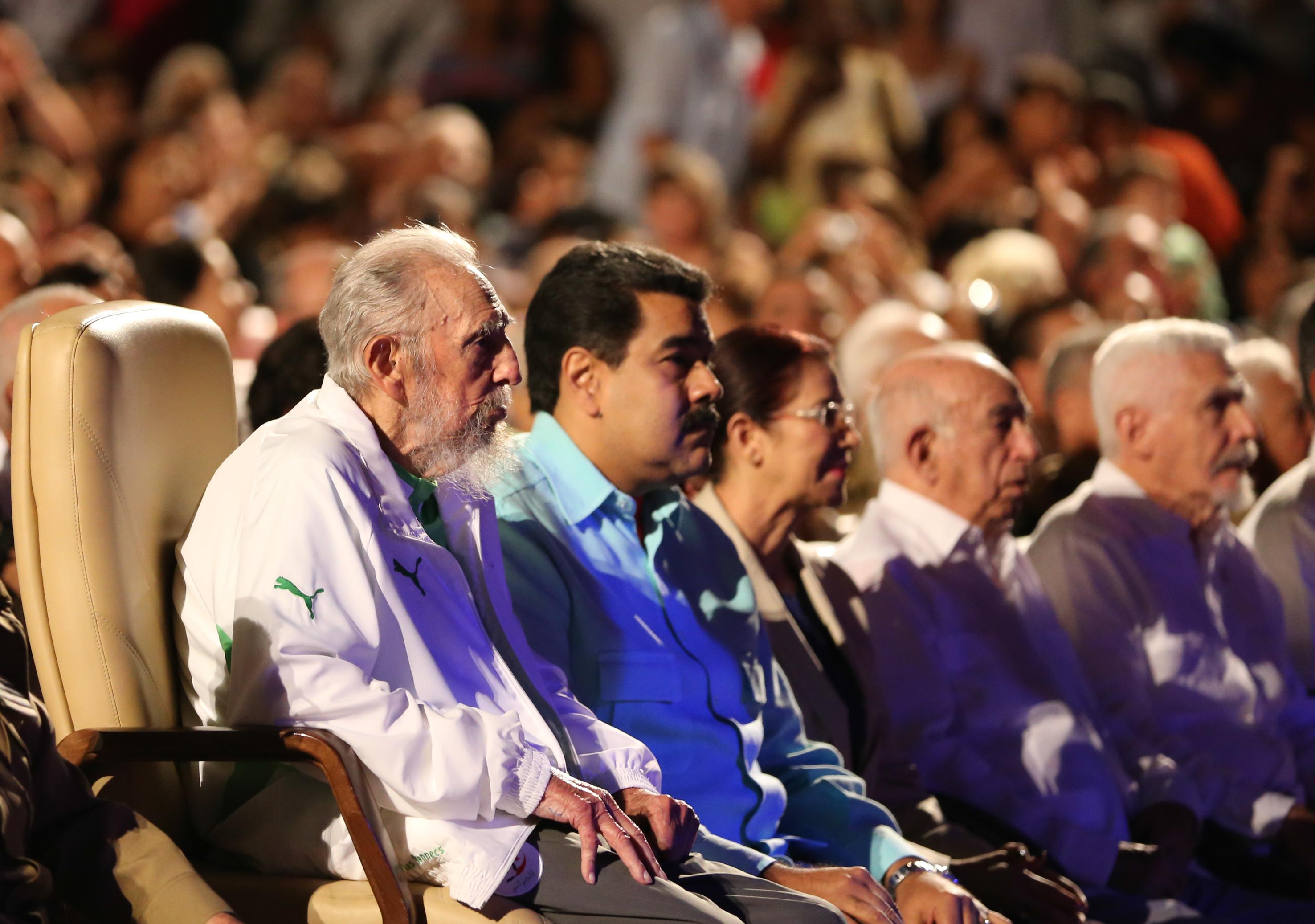 Fidel Castro junto a Nicolás Maduro en su último cumpleaños