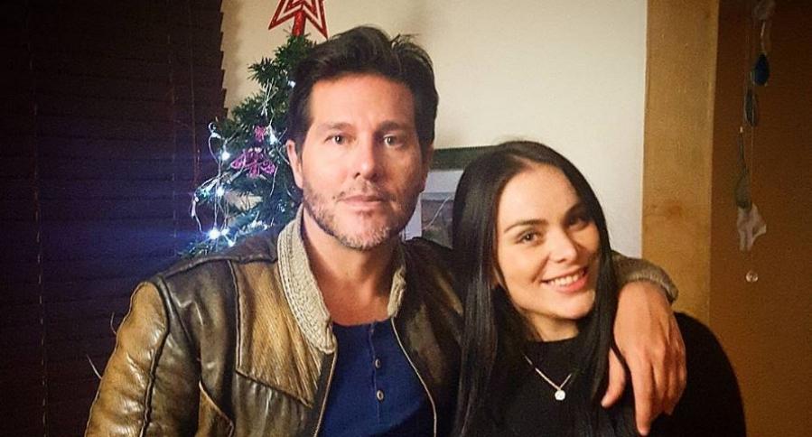 Marcelo Cezán, presentador, actor y cantante, junto a su esposa Michelle Gutty, bailarina.