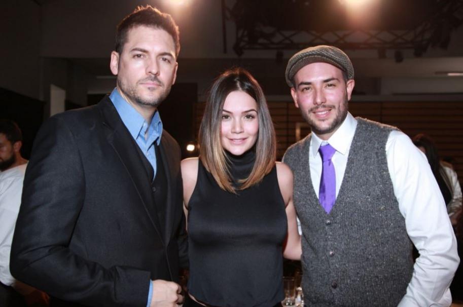 Rodrigo Candamil, Lina Tejeiro y Sebastián Martínez, actores que harán de abogados en 'La ley del corazón'.