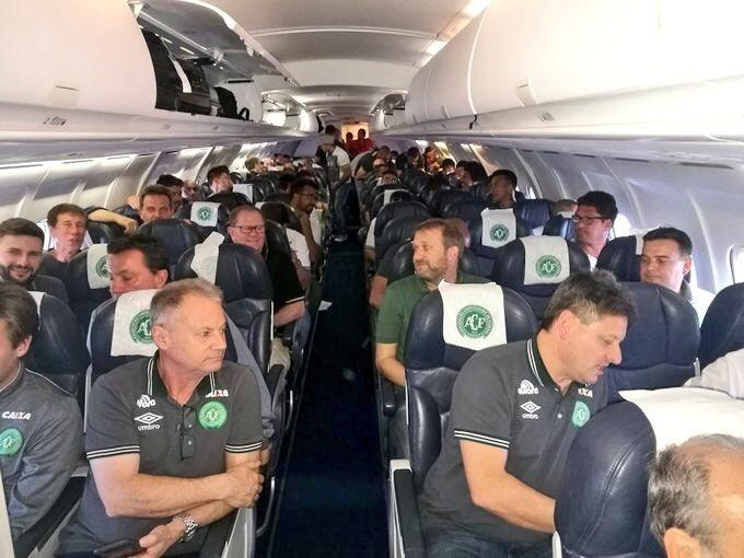 Desapareció el avión que transportaba a Chapecoense