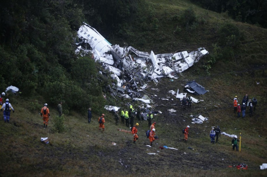 Accidente del avión de Chapecoense en Colombia