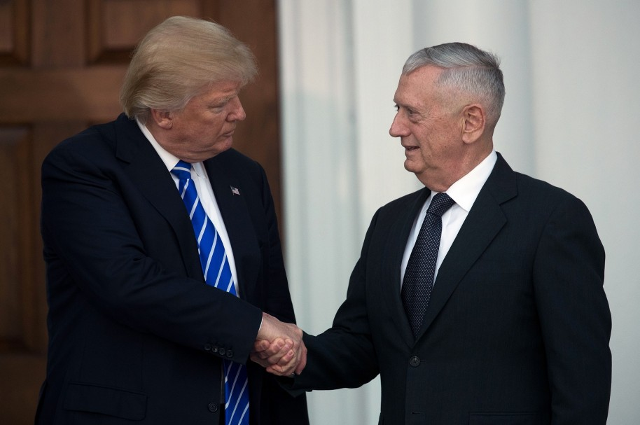 Donald Trump y James 'Mad Dog' Mattis
