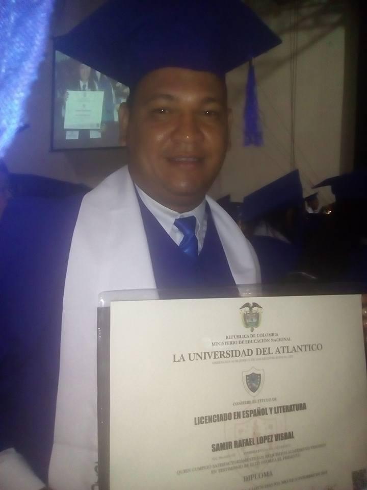Samir Rafael Lopez Visbal, día de su graduación