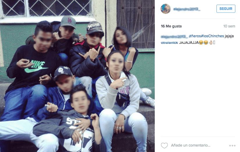Pantallazo red social