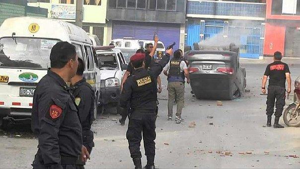 Disturbios en Lima