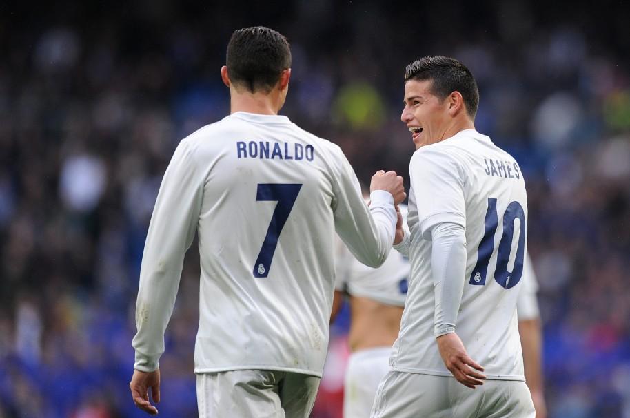 Ronaldo y James