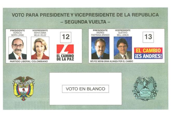 1998 segunda vuelta