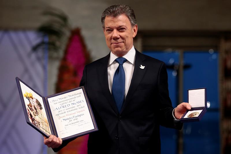 Premio Nobel de Paz para Juan Manuel Santos