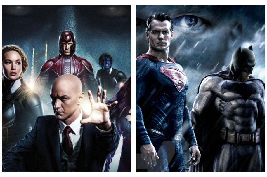 Afiches de 'X- Men Apocalipsis' y 'Batman vs Superman'