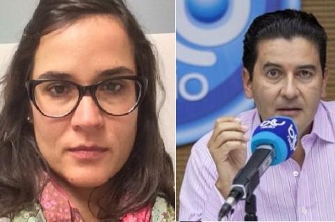Carolina Sanín y Néstor Morales