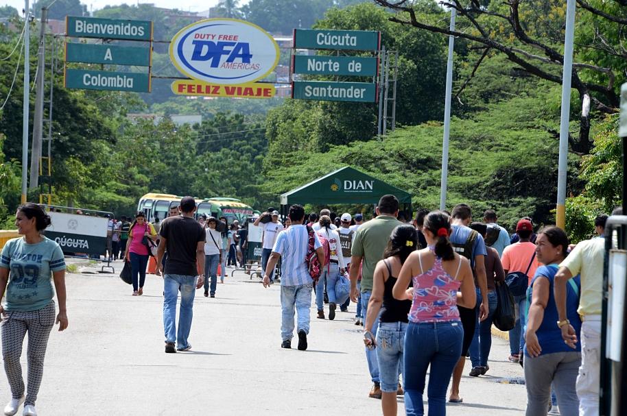 Frontera de Venezuela con Colombia, cerca de Cúcuta
