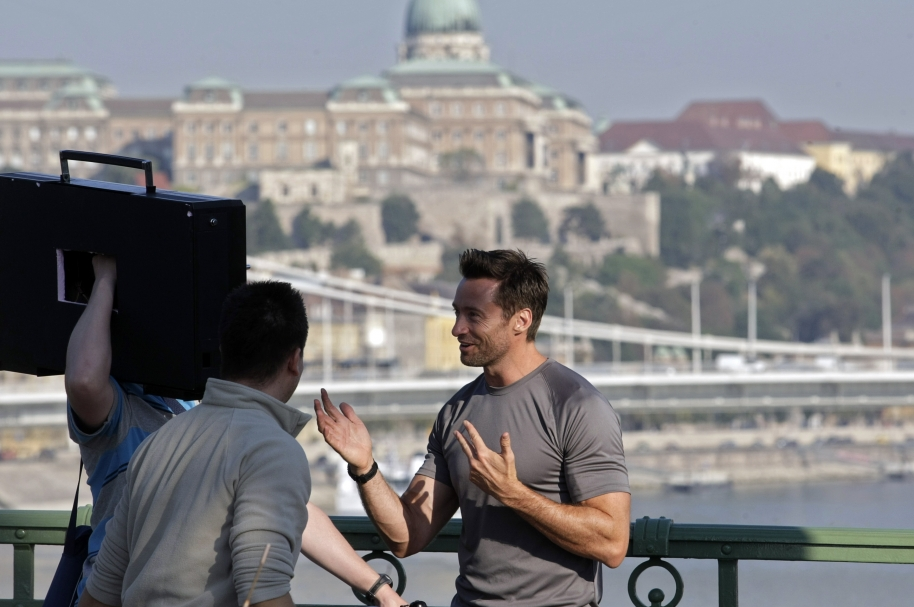 Hugh Jackman, en Budapest.