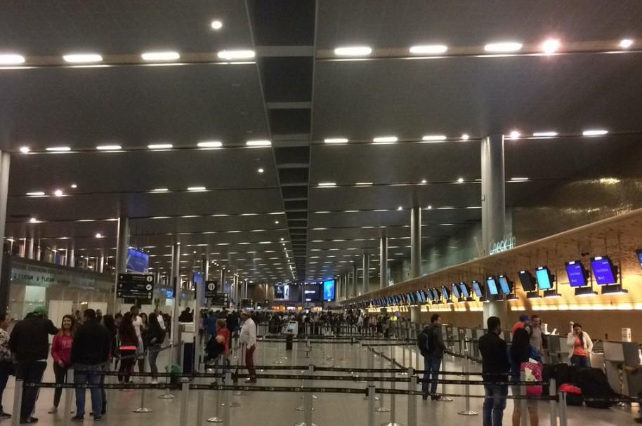 Área de 'check-in' internacional del aeropuerto El Dorado